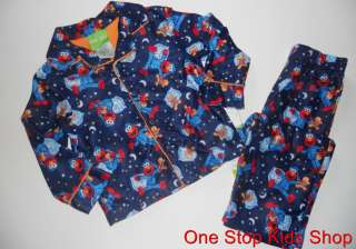 ELMO Sesame Street 2T 3T 4T Boys Pjs Set PAJAMAS Shirt Pants