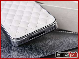 Leather Chrome Case Cover for iPhone 4 4G 4S New in Gift BOX