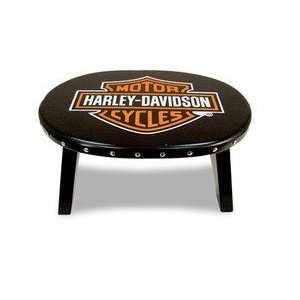 Harley Davidson Bar and Shield Stool   Color Black