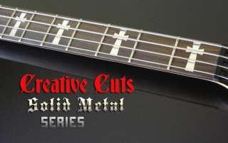 TONY IOMMI SG Chrome CROSS 4 Bass Guitar DECAL INLAYS