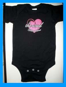 THE USED HEARTCORE BABY ONESIE T SHIRT PUNK ROCK NEW