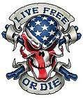 Lethal Threat American Live Free Or Die Biker Decal BMF