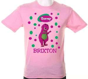 Barney & Friends, Purple Dinosaur T Shirts Personalized