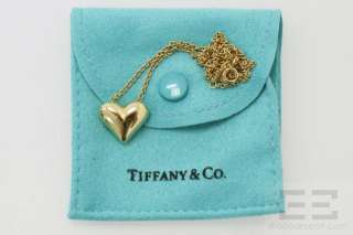 Tiffany & Co. 18K Yellow Gold Heart Pendant Necklace 9.3 Grams