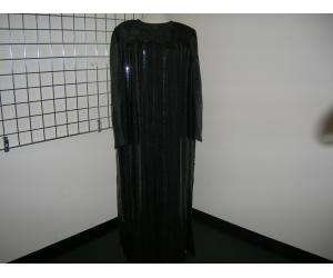 ANDRE LAUG long black sequin striped evening gown 20