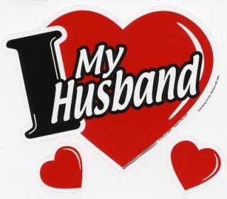 Love My Husband 3 in 1 Heart Car Magnet