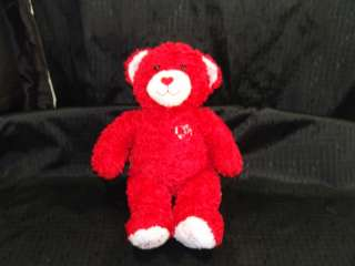 Retired Build Bear Hugs Kisses Red Heart Love Sound Toy