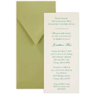 Tea with Thermography Style 2 Boy Baptism Christening Invitation   Set