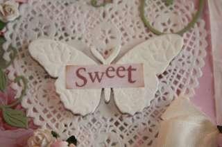 Handmade Greeting Easel Card DANI Paper Piecing TPHH FABULOUS FRIDAY