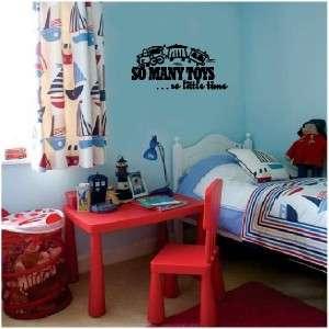 Train Toys Boys Bedroom Wall Sticker Vinyl Decal Letter