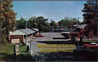 Fountain Lodge Motel Main St Bellefontaine Ohio OH Vintage Postcard