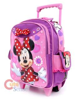Disney Minnie Mouse Red Bow School Roller Backpack Rolling Bag 2
