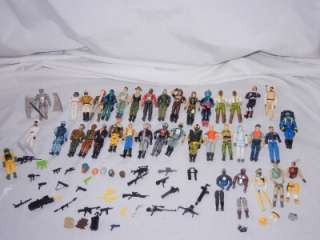 HUGE Lot of 34 Vintage GI Joe 3 3/4 Action Figures w/ Weapons Sgt