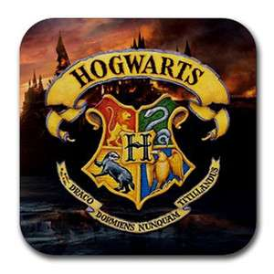 New* 4 PCS HARRY POTTER HOGWARTS SCHOOL Drinks Rubber Coasters