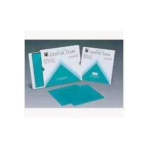 H09928 Dental Dam Face Mask Hygenic Rubber Green Med 5x5 15 Per Box by