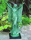 PINK Hydrangeas GaRdeN Statue ANGEL, BEREAVEMENT 9610 New Large Flag