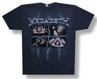 MEGADETH Heavy Metal Band 2008 CONCERT TOUR T SHIRT New