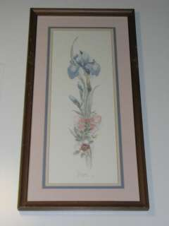 Mary Bertrand Limited Edition Signed Blue Floral Print