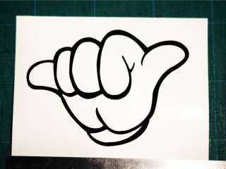 JET LIFE MICKEY HANDS DECAL JDM DJ HANG LOOSE STICKER