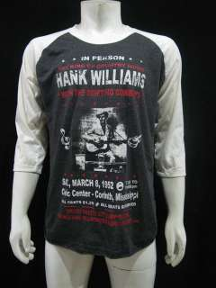 HANK WILLIAMS The King of country music T Shirt Men XL