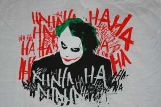 Heath Ledger as the Joker Dark Knight Adult T Shirt