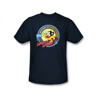 Mighty Mouse Planet Cheese Cartoon Retro Classic T Shirt Tee