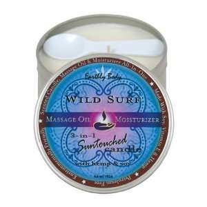 Suntouched hemp candle   6oz round tin wild surf:  Home