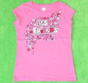 New Girl Valentine Best Friends Shirt Size 10/12 14/16