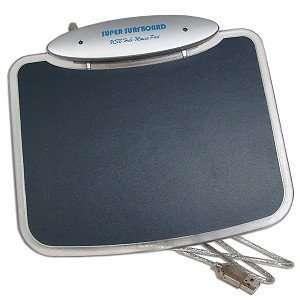 Illuminated Blue LED Mouse Pad with 4 Port USB 2.0 Hub Electronics