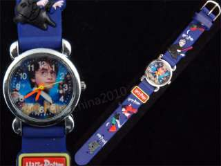 1X Blue Harry Potter 3D children kids watch Birthday Gift