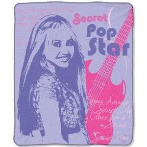 Hannah Montana Teen Idol Royal Plusch Raschel 50x60 Throw