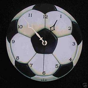 SOCCER BALL SPORTS WALL CLOCK