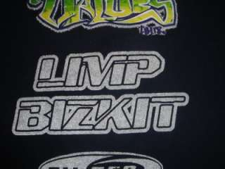 Family Values Tour T Shirt Limp Bizkit Staind Vtg 99 XL