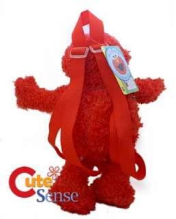 Sesame Street Elmo Figure Plush Backpack Bag Brand NEW