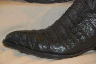 750 BERNINI BEVERLY HILLS BLACK CAIMAN CROCODILE & LEATHER COWBOY
