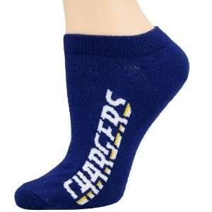 NFL San Diego Chargers Ladies Navy Blue Team Name Ankle Socks