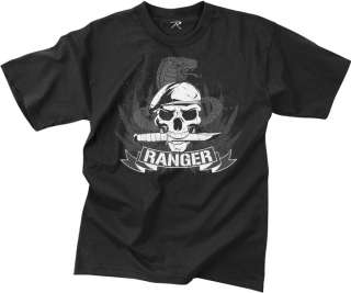 Vintage Military US Rangers Tee Army Spec Ops T Shirt