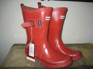 Wellington Festival Short Red Black Rain Mud Boots 5 6 37 EU NEW
