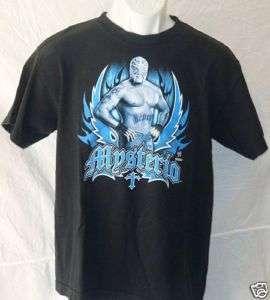 Rey Mysterio 619 Mexico WWE Black Shirt Youth XL