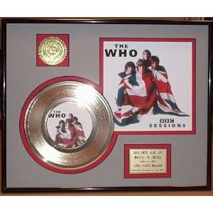 THE WHO GOLD RECORD LIMITED EDITION DISPLAY Everything