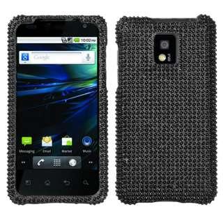 BLACK FULL BLING CELL PHONE CASE FOR LG OPTIMUS G2X