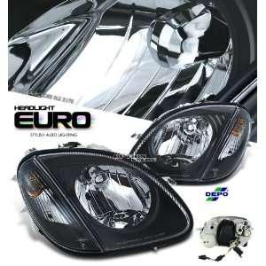 SLK320 SLK32 BLACK HOUSING HEADLIGHT LAMP W/TURN SIGNAL CORNER LIGHTS