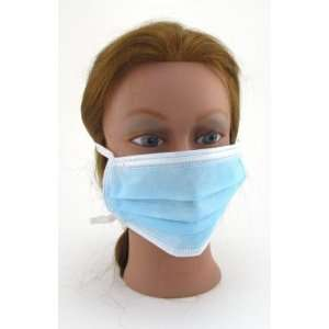 Tie On Surgical Mask (Box of 50) Blue (3 Pack) with Free