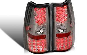 SILVERADO 99 03 GMC SIERRA LED TAIL LIGHT LAMP TAILLIGHT SMOKE PAIR