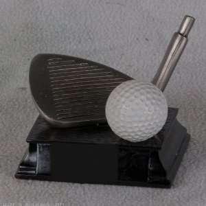 Pewter Golf Club with Ball Figurine