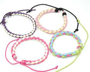 1PC Handmade Leather Rope Braid Friendship Bracelet