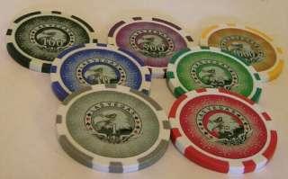pc Las Vegas Laser Eagles poker chips samples set #43