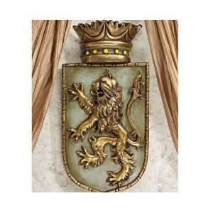 Shield Wall Sculptural Décor Bravery Strength Symbol: Everything Else