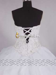 Gorgeous Embroidery Swarovski Beading Wedding Dress Bridal Gown