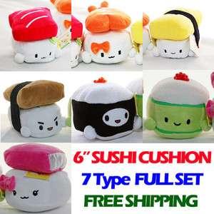 CUTE 6 Japan Sushi Pillow Plush Cushion Doll x7 SET Cupid Gift Shop